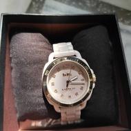 正版Coach粉色陶瓷手錶