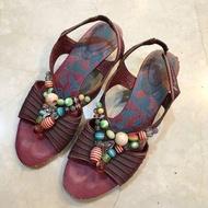 麥坎納 MACANNA 串珠涼鞋低跟鞋 #海龜