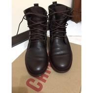 紳士型男必備 深咖啡 英國Camper 稀少男靴 EU43號 (US10),放鞋墊約EU42(US9 )[郵寄面交皆可]