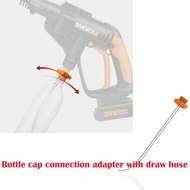Bottle Cap Connection Adapter w/ Draw Hose Worx WG629E Clean Tools For Hydroshot