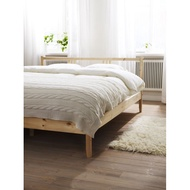 絕版北歐工業LOFT風格經典IKEA宜家FJELLSE松木雙人床框附板條/實木床架/二手八成新/原$4500特$2580