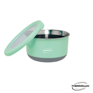 【THERMOcafe 凱菲】不鏽鋼多功能隔熱碗1.2L(TC-BOWL-LGR)淺粉綠