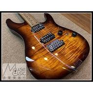 【苗聲樂器Ibanez旗艦店】Ibanez Premium AZ242F-DEB 漸層虎紋小搖電吉他