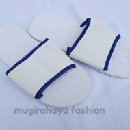 Plain White Hotel Sandals 6 mm Selusin - Sliper Home - Sendal Hospital Spa Work Art