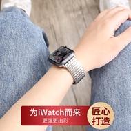 ใช้ Applewatch6สายนาฬิกา Apple Iwatch4-5 3-2-1สายคล้อง6รุ่น SE ฤดูใบไม้ผลิไม่เป็นสนิม