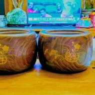 日本蒔繪火缽(一對)