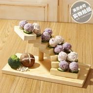 壽司碟 旋轉步步高升木質樓梯餐具盤子壽司點心糕點架  非凡小鋪