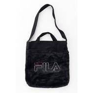 FILA - FM2113 2WAY TOTE BAG 絨毛 兩用 側背包 / 手提袋 (黑色) 化學原宿