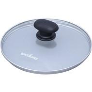 日本IRIS OHYAMA/GREEN CHEF 20公分 專用鍋蓋 鑽石塗層陶瓷鍋 瓦斯爐、IH對應 煎鍋 平底鍋