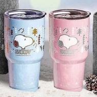 (現貨 粉ㄧ 藍色一個)史努比-陶瓷真空冰霸杯
