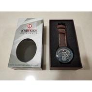 日本 KADEMAN 卡德曼 潮流男士皮帶手錶 男商務運動手錶 真三眼計時腕錶皮帶~送禮自用皆宜