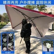 大號戶外遮陽傘擺攤傘太陽傘庭院傘大型雨傘四方傘沙灘傘3米 WD 遇見生活618購物節
