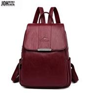 Johnn กระเป๋าเป้สะพายหลังแฟชั่นสุภาพสตรีกระเป๋านักเรียนกลางแจ้งกันน้ำความจุมากกระเป๋าสะพายเดินทาง
