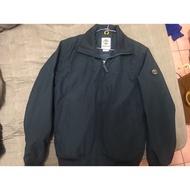 Timberland 男款深藍色筒型立領飛行夾克,timberland官網購入,不合身(S),轉售給適合的你