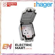 hager Sollysta WXPSS81 IP66 Weatherproof, dust proof,waterproof Single 13A Double Pole Switched Socket, EAN 325061726009