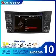 AVGOTOP Android 10วิทยุDVD PlayerสำหรับMERCEDES-BENZ E-CLASS W211 2G 16G MP3 MP4 Bluetooth GPSมัลติมีเดีย