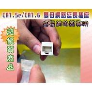 [瀚維] 真材實料 CAT.5e/CAT.6 雙母網路延長插座 訊號加強型 一母對一母 另售 資訊面板