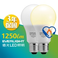 12W亮度 億光 LED燈泡 超節能款 隨裝隨用 政府節能標章真正安全 EVERLIGHT 10W耗電量 白光/黃光