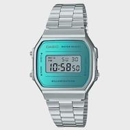【CASIO 卡西歐】電子錶 復古經典電子男錶 不鏽鋼錶 生活防水 碼錶功能(A168WEM-2D)