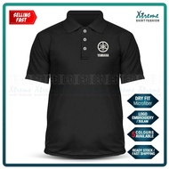 Dry Fit Logo Yamaha Polo T Shirt Sulam MotoGP Motorcycle Motosikal Superbike Racing Team Bike Casual Y15 Y125Z LC RXZ