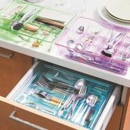 【香草花園】高質感粉彩分隔式抽屜收納整理盒_雙層透明款抽屜清爽整齊透明看的見