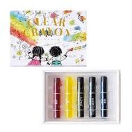 日本製 Kokuyo 透明蠟筆 5色入