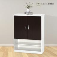 2.1/2.7尺兩門半開放塑鋼鞋櫃 防水塑鋼家具【米朵Miduo】
