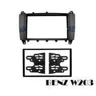 全新 BENZ 賓士 W203 小改款 C-Class 2DIN 面板框 MZ 2305