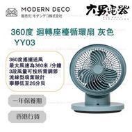 MODERN DECO - YY03 360度 迴轉座檯循環扇 灰色 香港行貨
