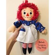 1987年 Playskool raggedy Ann & Andy doll 古董玩具 12吋 布偶 安娜貝爾 娃娃