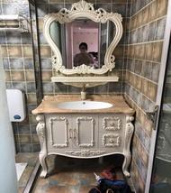 歐式PVC浴室櫃落地組合簡歐衛生間整體洗手洗臉盆櫃衛浴櫃現貨MBS聖誕節禮物  居家生活節