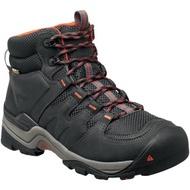 KEEN 1015300 MARSHALL 防水皮革戶外登山鞋 男 黑色/橘 零碼最後2雙 US-10號跟11號