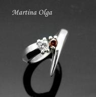 奧嘉設計. 銀飾 925純銀 極簡個性俐落 雙鑽V型戒指 尾戒 實搭質感 鑽色可換 Anna Sui (MR0032)