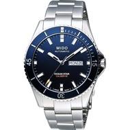 【MIDO】Ocean Star 200m潛水機械腕錶-藍x銀/41mm(M0264301104100)