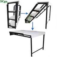 5Cgo【宅神】多功能壁掛餐桌折疊桌靠牆隱形桌小戶型伸縮家用置物架可變桌子簡電腦桌書架花架 599491424851