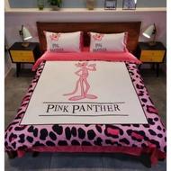 粉紅頑皮豹 水洗真絲 天絲床包 床包四件套& 雙人床包 加大床包 【床包+被套+枕套】