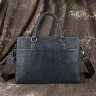 ผู้ชายหนังวัวกระเป๋าเอกสารธุรกิจข้ามร่างกายกระเป๋าวินเทจซอฟท์สลิงกระเป๋ากระเป๋าสะพายธรรมดากระเป๋าซิปเดินทางทำงาน Organizer กระเป๋า