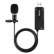 FIFINE TECHNOLOGY USB Lavalier Lapel Microphone,FIFINE Clip-on Cardioid Condenser Computer mic plug