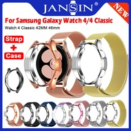 Protective Case + Milanese Loop Strap For Samsung Galaxy Watch4 Classic 42mm 46mm Strap Stainless Steel Band For Samsung Galaxy Watch 4 Smart Watch Metal Strap