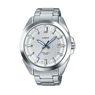 นาฬิกาผู้หญิง ผู้ชาย ของแท้100% มีใบประกัน (รับประกัน1ปี) นาฬิกาข้อมือผญ ผช ทนทาน กันน้ำได้ (จัดส่งฟรี) นาฬิกาแบรนด์ รุ่นใหม่ล่าสุด Casio Standard นาฬิกาข้อมือผู้ชาย สายสแตนเลส รุ่น MTP-E400D-7AVDF ราคาพิเศษ ยี่ห้อที่ดีที่สุด มีเก็บเงินปลายทาง