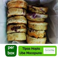 Farm Fresh Village Tipas Hopia Ube Macapuno flavor, 10 pieces per box