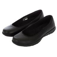 SKECHERS Go Walk Lite女鞋健走鞋上班族工作鞋皮革鞋面 16371BBK 黑
