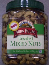 運另+*COSTCO美國進口*ANN'S HOUSE UNSALTED MIXED NUTS 無調味 綜合堅果 綜合豆 (1.13kg)*腰果 杏仁果 巴西豆 胡桃 榛果*自取*