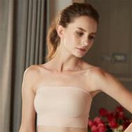 華歌爾-gococi S-L 平口內衣(膚)無鋼圈-套穿式無痕親膚-花生襯墊塑造美胸