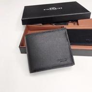 交換禮物蔻馳 COACH短夾 蔻馳F74991 PVC男士短款錢包 熱賣經典男生錢夾 皮夾
