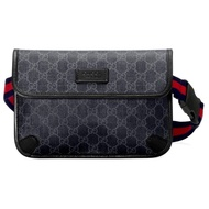 กระเป๋า GUCCI GG SUPREME BLACK BELT BAG (BLACK/GREY)