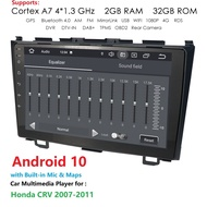 2G + 32G RDSสำหรับHonda CRV CR-V 3 RE 2006 2007 2008 2010 2012รถวิทยุมัลติมีเดียvideo PlayerนำทางGPS Android 10 2din