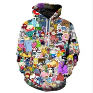 Anime Hoodies Men/3D Sweatshirts With Hat Hoody Unisex Anime Cartoon Hooded Hoodies Sweatshirts
