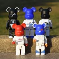 28CM bearbrick 400%  NIKE Bearbrick Cartoon Blocks Bear Collectible Models Toys