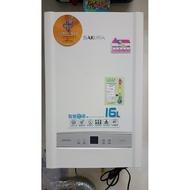 #大台南#20年實體老店拚評價*Sakura櫻花熱水器  DH1637A  強制排氣*恆溫